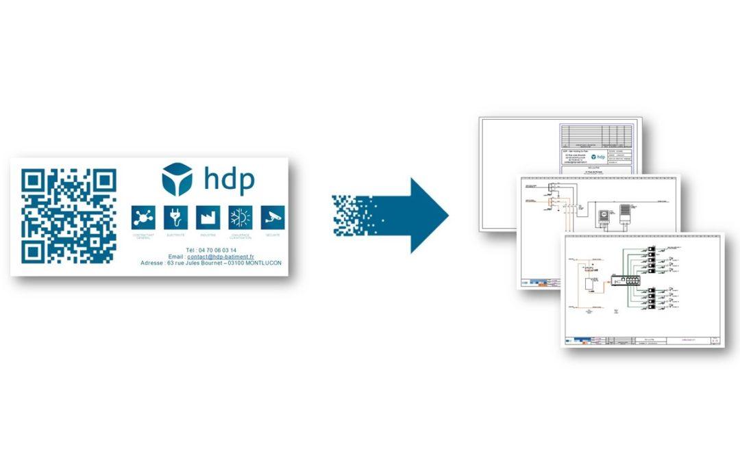 HDP met en place le partage de fichiers dématérialisés via QR Code sur leurs armoires et coffrets électriques.